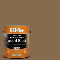 BEHR 1-gal. #SC-147 Castle Gray Solid Color House and Fence Wood Stain