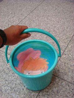 Ponyo bucket at Ghibli exhibit