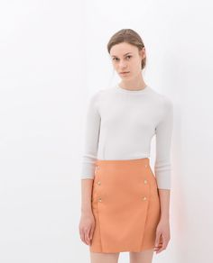 ZARA - WOMAN - FLARED SKIRT WITH BUTTONS