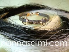 Jewelry made with your own horse´s hair. Hand crafted. Original idea, innovation, design by Nanna Salmi, Finland.