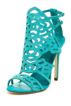 Teal high heels with bling, aqua high heels, Swarovski crystal ...