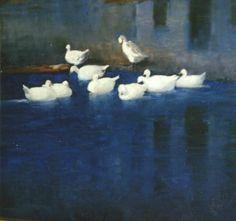 "George Luks, ""Ducks on the Morris Canal"", circa 1900?.........first pins 4/15/12"