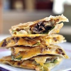 Cheeseburger Quesadillas! - and other ground beef recipes   Cheeseburger and Quesadilla - B's two favorite things together!