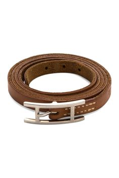 Vintage Hermes Leather Hapi Wraparound Bracelet