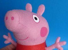 Espaço Infantil – Molde Peppa Pig de Feltro em 3D