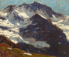 Edgar Alwin Payne (1883 -1947). Snow-covered Peaks. Oil on Canvas. 20 x 24 inches.