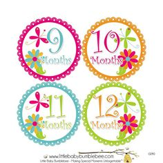 Monthly Stickers Girls Photo Props Monthly Baby Stickers