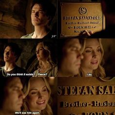 I was so happy when this happened because I feel as though the TVD writers never gave Damon and Caroline a proper friendship because they were trying to keep up Vampire Diaries Poster, Vampire Diaries Quotes, Vampire Diaries Seasons, Vampire Diaries Wallpaper, Vampire Diaries Cast, Vampire Diaries The Originals, Vampire Diaries Last Episode, Stefan Salvatore, Damon Salvatore Vampire Diaries