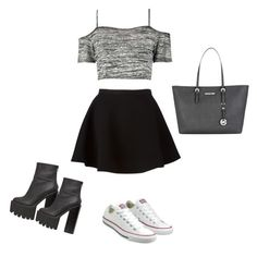 """""""Untitled #4"""" by hannaah164 on Polyvore featuring Boohoo, Neil Barrett, Converse, Jeffrey Campbell and Michael Kors"""