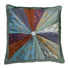 Silk Pinwheel Pillow - Pillows, Blankets & Bedcovers - Home Accents - Products