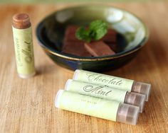 Chocolate Mint Lip Balm from My Own Ideas blog #homemade #beauty #diy #craft