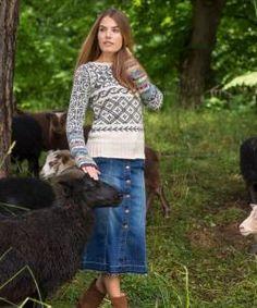 Stellar Fair Isle Jumper (332-01) - Dale Garn - kit Rug Hooking, Jumper, Roses, Pattern, Sweaters, How To Make, Knitting Tutorials, Kit, Inspiration