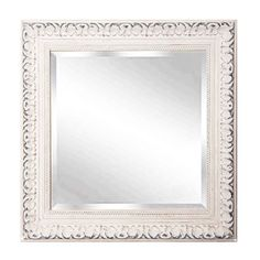 "Rayne Mirrors Home Decor French Victorian White Wall Mirror 35.5""""x 35.5"""""