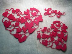 Heart Paper Piece Set of Very Lovely by JudeAlyssaMarkus Die Cut Paper, Paper Lace, Scrapbook Embellishments, Paper Hearts, Small Heart, Very Lovely, Homemade Cards, Altered Art, Mini Albums