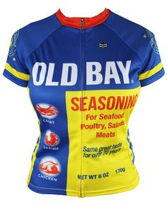 OLD BAY Women's Cycling Jersey (Large). Officially Licensed OLD BAY® Cycling Jersey. Semi Relaxed American Club Cut. High-Quality/Never Fade Sublimation Printed Colors. Durable Full-Length Zipper (All Jerseys). 3 Rear Pockets For Storage (All Jerseys).