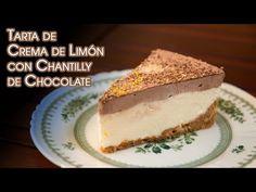 Tarta de Crema de Limón con Chantilly de Chocolate Sin horno Ni Huevos