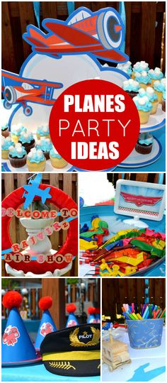 This airshow birthday party.has lots of games and activities! See more party ideas at CatchMyParty.com!