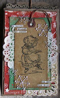 wenches skribleri, julekort