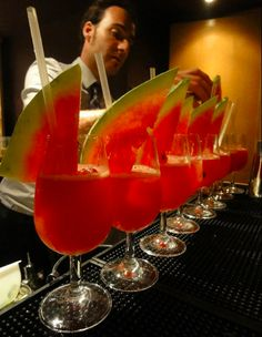 Watermelon Martini: the perfect #SummerDrink #Cocktail #Bar #Drink