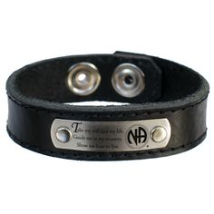 NA 3rd Step Prayer Leather Bracelet