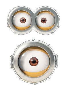 Légend image inside minion goggles printable