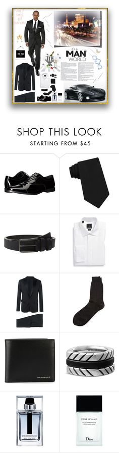 """Black Suit ... Look Male Group"" by deborah-518 ❤ liked on Polyvore featuring Edition, Calvin Klein, DAVID DONAHUE, Dsquared2, Alexander McQueen, Burberry, David Yurman, Christian Dior, Dolce&Gabbana and Rolex"