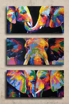 Beautiful DIY Canvas Painting Ideas for Your H. Beautiful DIY Canvas Painting Ideas for Your Home – Image Elephant, Elephant Art, Abstract Portrait Painting, Diy Painting, Image Painting, Painting Tutorials, Creative Painting Ideas, Watercolor Painting, Colorful Elephant