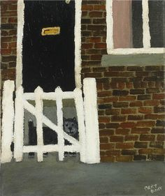 Gary Bunt | Black Dog, White Gate A black dog lives in a house With a white gate Next door lives a white dog Who is the black dogs best mate