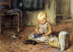 The Little Mother, Watercolour by Jan Zoetelief Tromp (1872-1947)