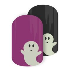 Jamberry Nails - Glowing Ghouls Ghots *Glow in the Dark Halloween Nail Wraps