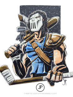 Casey Jones Illustration by justinprime on deviantART