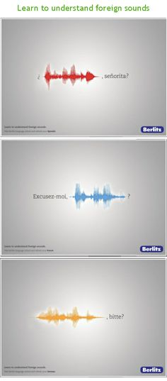 PUBlicité  Learn to understand foreign sounds - Berlitz - Germany