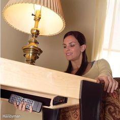 If your remote controls are cluttering up your coffee table and getting lost behind sofa cushions, here's how to neaten up. Apply adhesive-backed hook-and-loop strips to the underside of the coffee table and to the backs of the remotes. To avoid snags on upholstery and clothing, put the soft (loop) material on the remotes. Now all the controls are hidden from view, but you'll always know where to find them. Hook-and-loop strips are available at home centers and discount and hardware stores.