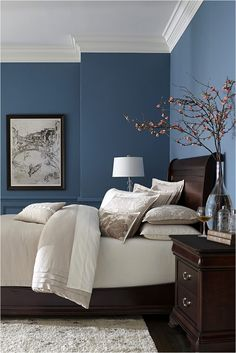 new blue paint colors for bedrooms unique bedroom ideas throughout blue paint co. new blue paint colors for bedrooms unique bedroom ideas throughout blue paint colors for bedrooms Blue Paint Colors for Bedroom Bedroom Wall Paint Colors, Best Bedroom Colors, Blue Bedroom Walls, Bedroom Color Schemes, White Bedroom, Modern Bedroom, Trendy Bedroom, Fancy Bedroom, Contemporary Bedroom