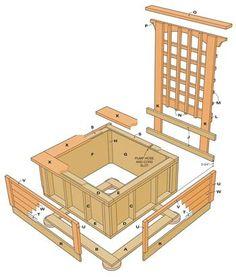 DIY Small garden pond - Instructions for a wooden mini pool Patio Pond, Diy Pond, Ponds Backyard, Backyard Pergola, Garden Pond, Pergola Ideas, Pergola Shade, Pergola Kits, Backyard Waterfalls