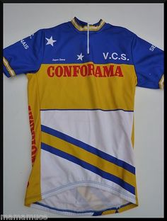 Maillot cycliste CONFORAMA vintage TAILLE M