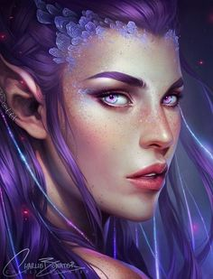 A selection of gorgeous digital paintings and illustrations by the talented British fantasy artist Charlie Bowater. Fantasy Girl, Fantasy Women, Fantasy Artwork, Character Portraits, Character Art, Elfen Fantasy, Fantasy Kunst, Fantasy Rpg, Elfa