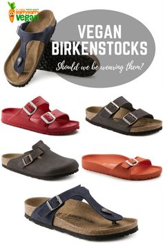 Vegan Birkenstocks are now officially a thing, but should we be buying them? Find out what the new range looks like and why there's a debate raging here. Vegan Birkenstock, Birkenstock Sandals, Vegan Clothing, Ethical Clothing, Sustainable Clothing, Sustainable Products, Sustainable Living, Happy Vegan, Vegan Boots