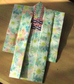折り紙の手紙(着物) : dollyのトキドキ絵手紙日記