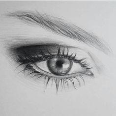 Ideas For Eye Sketch Awesome Pencil Art Drawings, Art Drawings Sketches, Eye Drawings, Illustration Au Crayon, Realistic Eye Drawing, Eyes Artwork, Eye Sketch, Copic Art, Eye Art