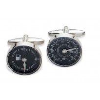 """""""Motor mad"""" Gaventa stainless steel Petrol Gauge  Speedometer Cufflinks  Model ref: 6577 RRP: £45 #orjewellers #cufflinks #motors #petrol"""