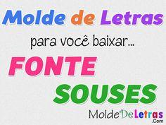 Molde De Letras E Números Fonte Souses - Molde de Letras