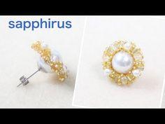 Simple Techniques of Making DIY Stud Earrings Seed Bead Jewelry, Bead Jewellery, Seed Bead Earrings, Beaded Earrings, Earrings Handmade, Beaded Jewelry, Handmade Jewelry, Stud Earrings, Earring Tutorial