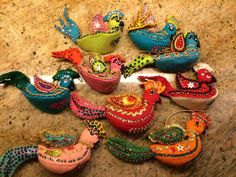 WOW Set Of 9 Vintage Bucilla Felt Sequin Bird Christmas Ornaments Handmade