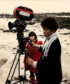 Richard Ayoade and Yasmin Paige while filming Submarine (2010)