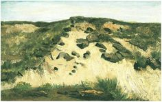 Vincent van Gogh: Dunes. Oil on Panel  The Hague, The Netherlands: August, 1882. Private collection.