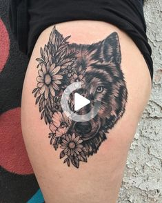 Flaunt your tattoo and express your beliefs through these commendable wolf tattoo designs. For more inspiring wolf tattoos ideas, browse post. #thightattoos Wolf Tattoo Design, Tattoo Designs, Flower Thigh Tattoos, Wolf Tattoos, Tattoo Models, Moon, Thigh Tattoos, Thighs, Tattoos Of Wolves