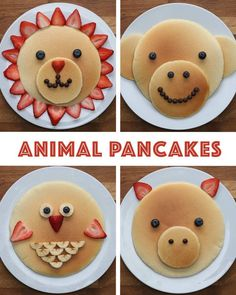 good-looking pancakes are the perfect breakfast for all ages - Essen für kinder - Perfect Breakfast, Breakfast For Kids, Breakfast Ideas, Brunch Ideas, Cute Food, Good Food, Pancake Designs, Food Art For Kids, Food Carving