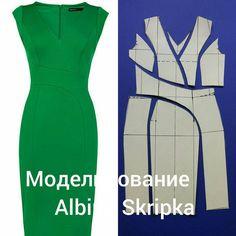 """3,242 Likes, 46 Comments - Альбина Скрипка (@albinaskripka) on Instagram: """"Вот такое замечательное платье- футляр рассмотрим мы сегодня в блоке моделирование. Платье…"""""""