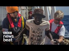 Newsbeat reporter Ben Mundy joins a ship rescuing refugees and migrants making the gallop from Africa to Europe. Bbc, Ship, Baseball Cards, Ships, Yachts
